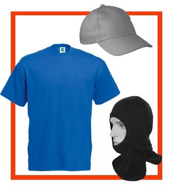 Подшлемники, кепки и футболки