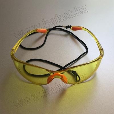 Очки Защитные желтые со шнурком