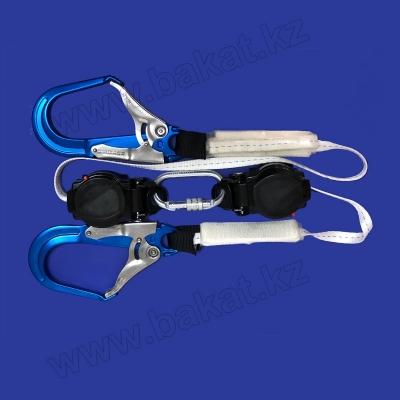 Двухплечевое страховочное устройство