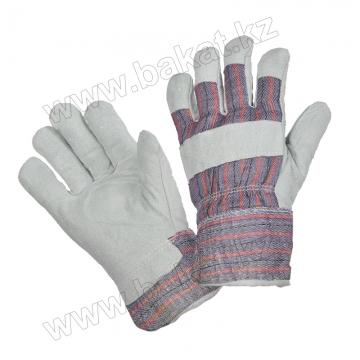 Перчатки спилковые утепленные BT