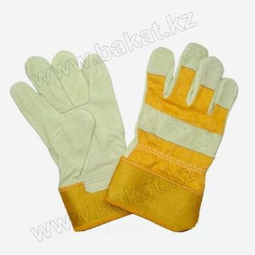 """Перчатки """"Юкон"""" кожаные комбинированные"""