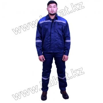 Рабочий костюм темно синий с синим
