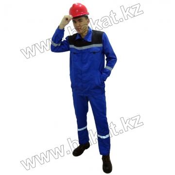 Рабочий костюм синий с черный