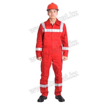 Комбинезон огнеупорный красный